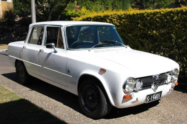 1968 Alfa Romeo Giulia 1300TI with black steel wheels