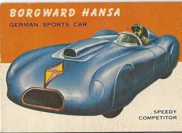 Topps World on Wheels trading card: Borgward Hansa