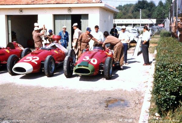Ferrari Paddock - Italian GP, 1957
