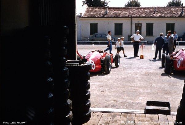 Maserati Paddock - Italian GP, 1957