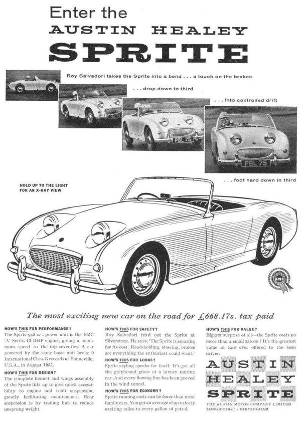 Austin Healey Sprite Ad - 1958