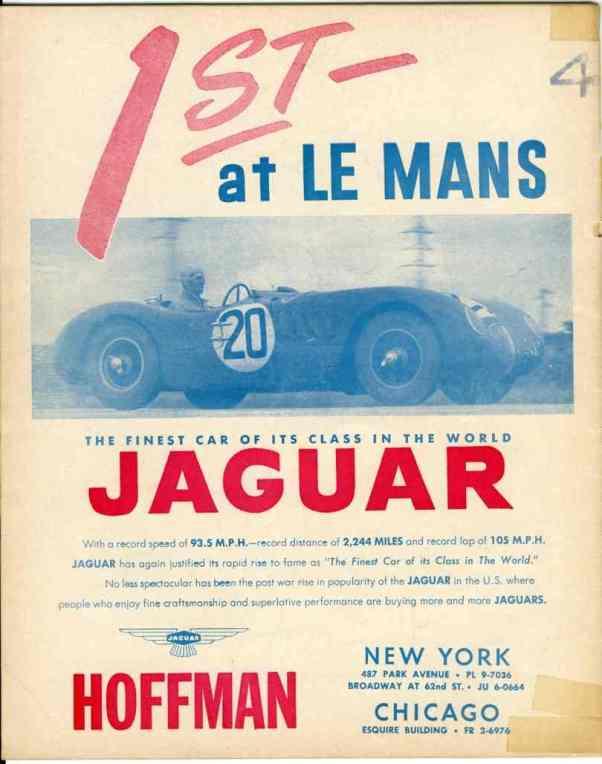 1952 Jaguar Ad