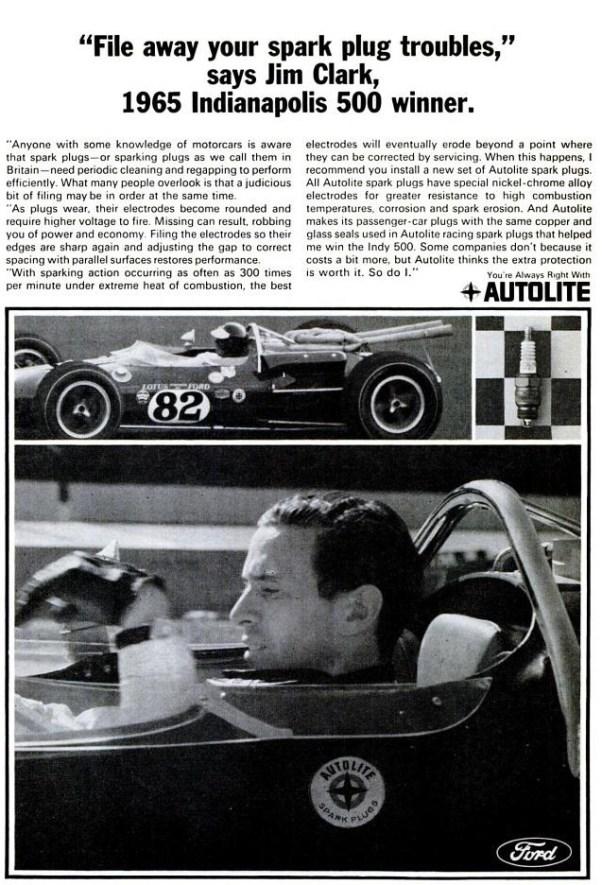 Jim Clark Autolite Ad