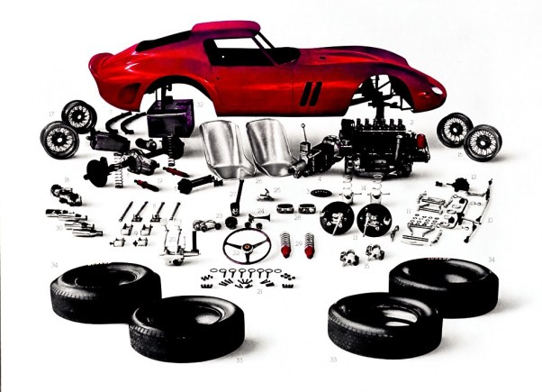 Ferrari 250GTO Disassembled