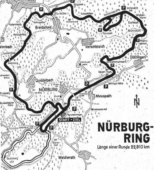 Nurburgring map