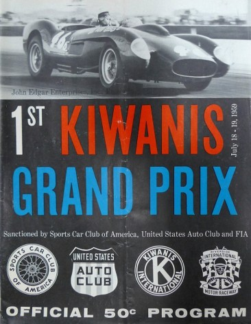 Kiwanas GP at Riverside program cover