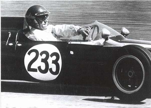 Steve McQueen in his 1961 Cooper T56 Formula Junior