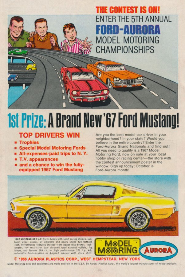 Aurora Slot Car Ad