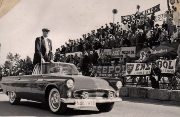 Enzo Ferrari? in a parade lap at the 1955 Gran Prix d'Agadir