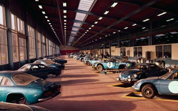 Alpine-Renault A110 Works department