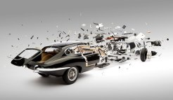 Jaguar E-Type in Fabian Oefner's Disentegrating series