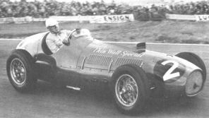 Giuseppe Farina in the Ferrari Thinwall Special. 1952 Woodcote Trophy. Goodwood.