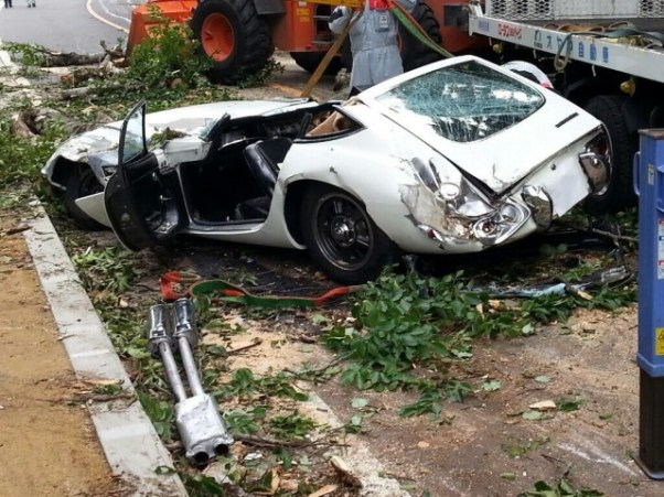 Toyota 2000GT crushed