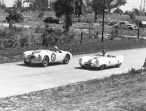 MG and Lotus at Sebring - 1957