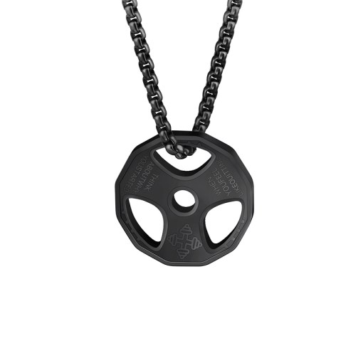 Weight Plate Pendant Necklace for Men