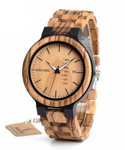 Antique Men's Zebra and Ebony Wood Watches