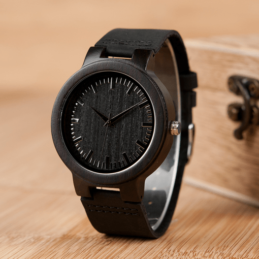 Luxury Quartz Wood Men's Watch