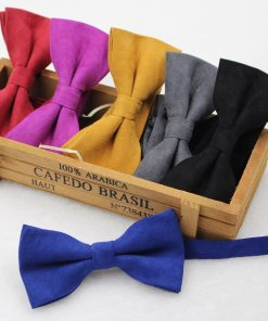 Colorful Suede Men's Bowtie