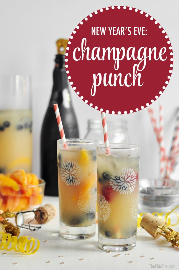 New Year's Eve Champagne Punch - The Chic Site