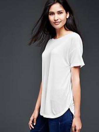 Solid fluid tunic - white