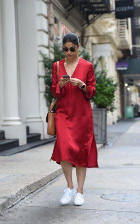 red-satin-dress
