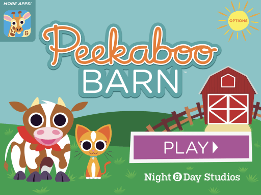 Mobile game for speech therapy, Peekaboo Barn