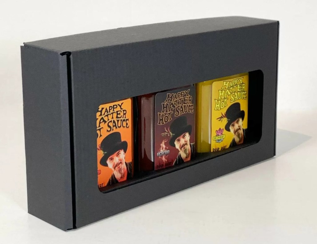 Giftpack: happy hatter original, smoked and bombay