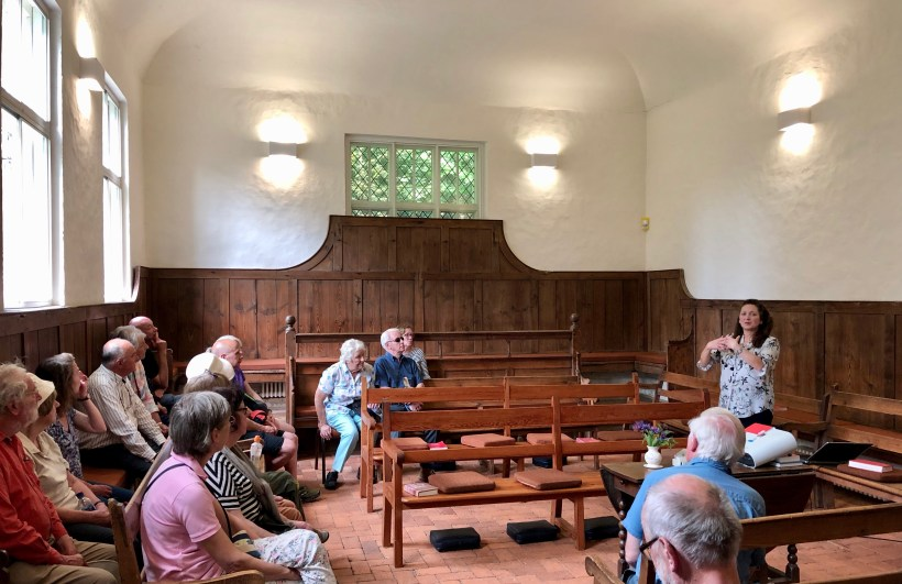 Inside the Quaker Meeting House