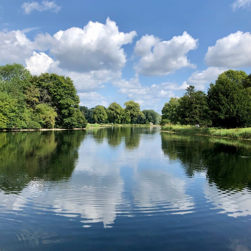 There are no formal gardens in West Wycombe park, just acres of lakes, trees and follies.