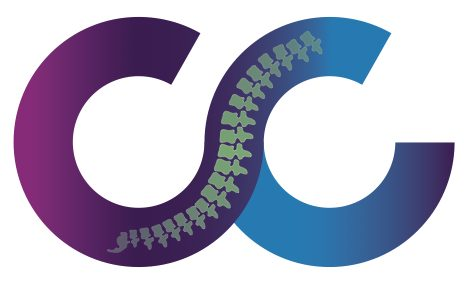 purple and blue CC shaped The Chiro Co logo