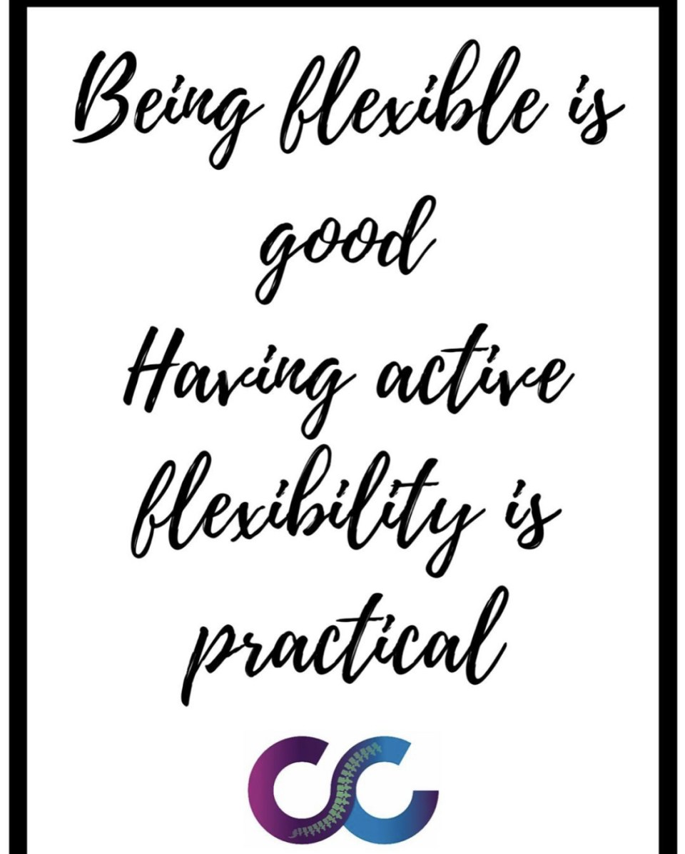 Being flexible is good. Having active flexibility is practical - The Chiro Co Burwood Logo