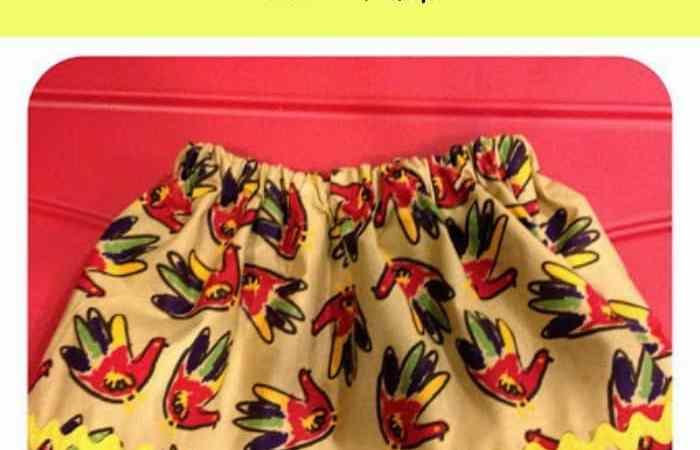 Easy DIY Thanksgiving Skirt for Girls