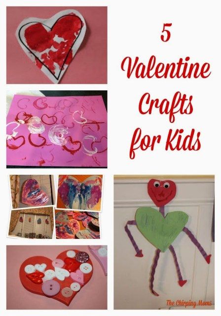 5 Valentine's Day Crafts for Kids || The Chirping Moms