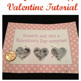DIY Scratch Off Valentines for Kids and Adults