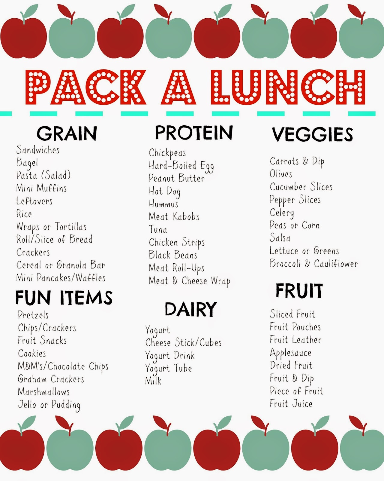 Packed Lunch Box Ideas Free Printable Amp Favorite Lunchbox Tools