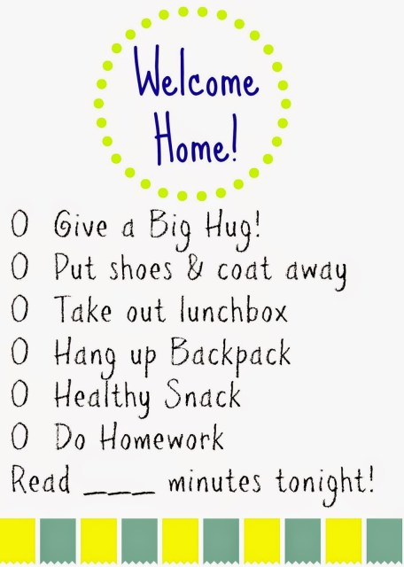 After School Printable Checklist : The Chirping Moms