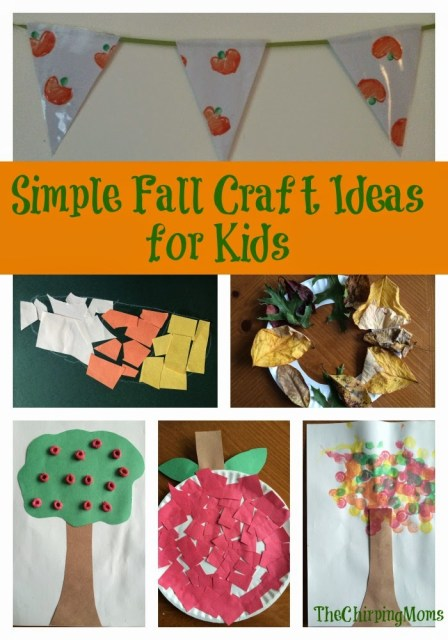 Simple Fall Crafts for Kids || The Chirping Moms