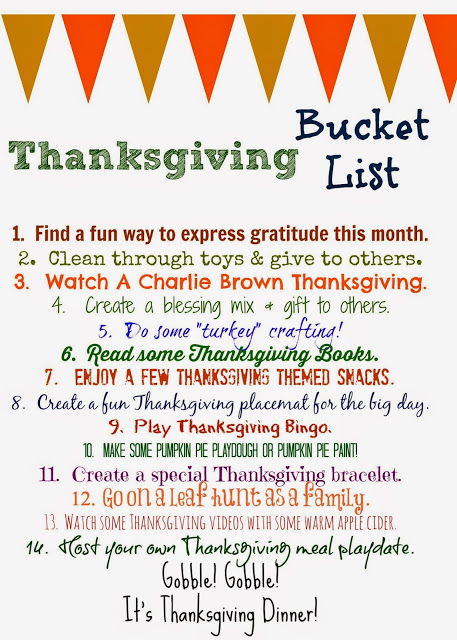 Thanksgiving Bucket List (Free Printable) - The Chirping Moms