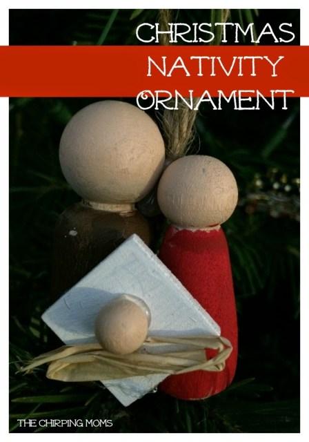 DIY Christmas Nativity Ornament : The Chirping Moms