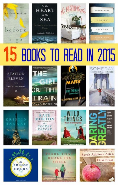 15 Books to Read in 2015 || The Chirping Moms