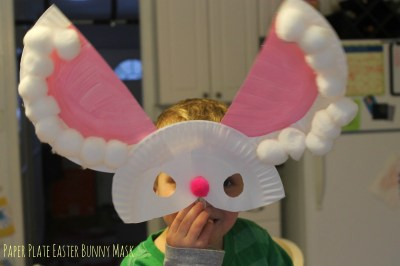Paper Plate Easter Bunny Mask || The Chirping Moms