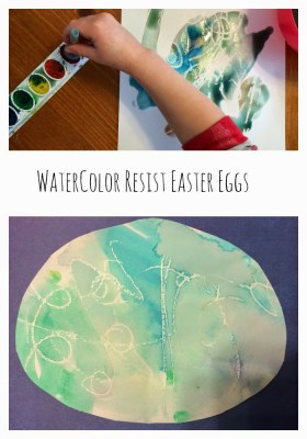 Watercolor Resist Easter Eggs || The Chirping Moms