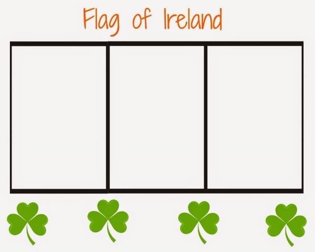 Ireland flag coloring pages for kids