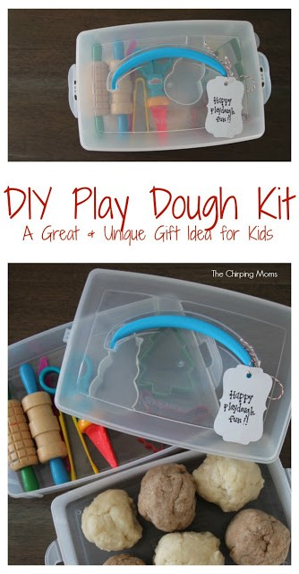DIY Play Dough Kit for Kids || The Chirping Moms. Fun Gift Idea for Kids. DIY Play Dough.