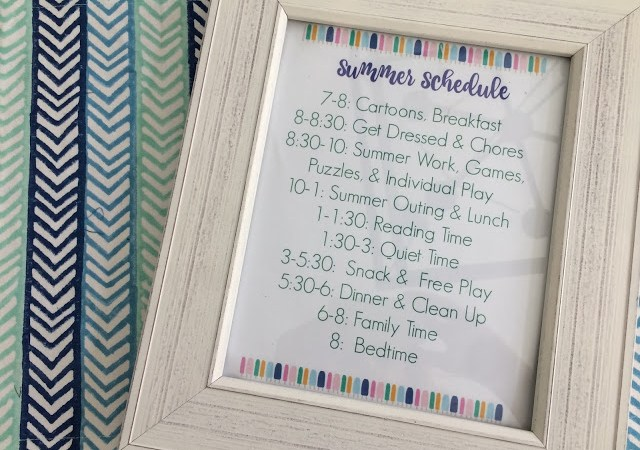 Summer Schedule for Kids (Free Printable)
