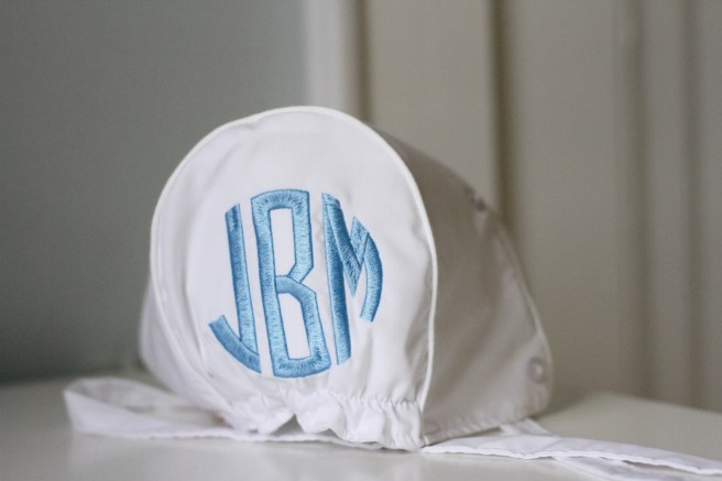 monogrammed bonnet The Beaufort Bonnet Company