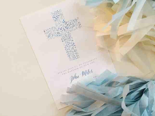 miles baptism invite
