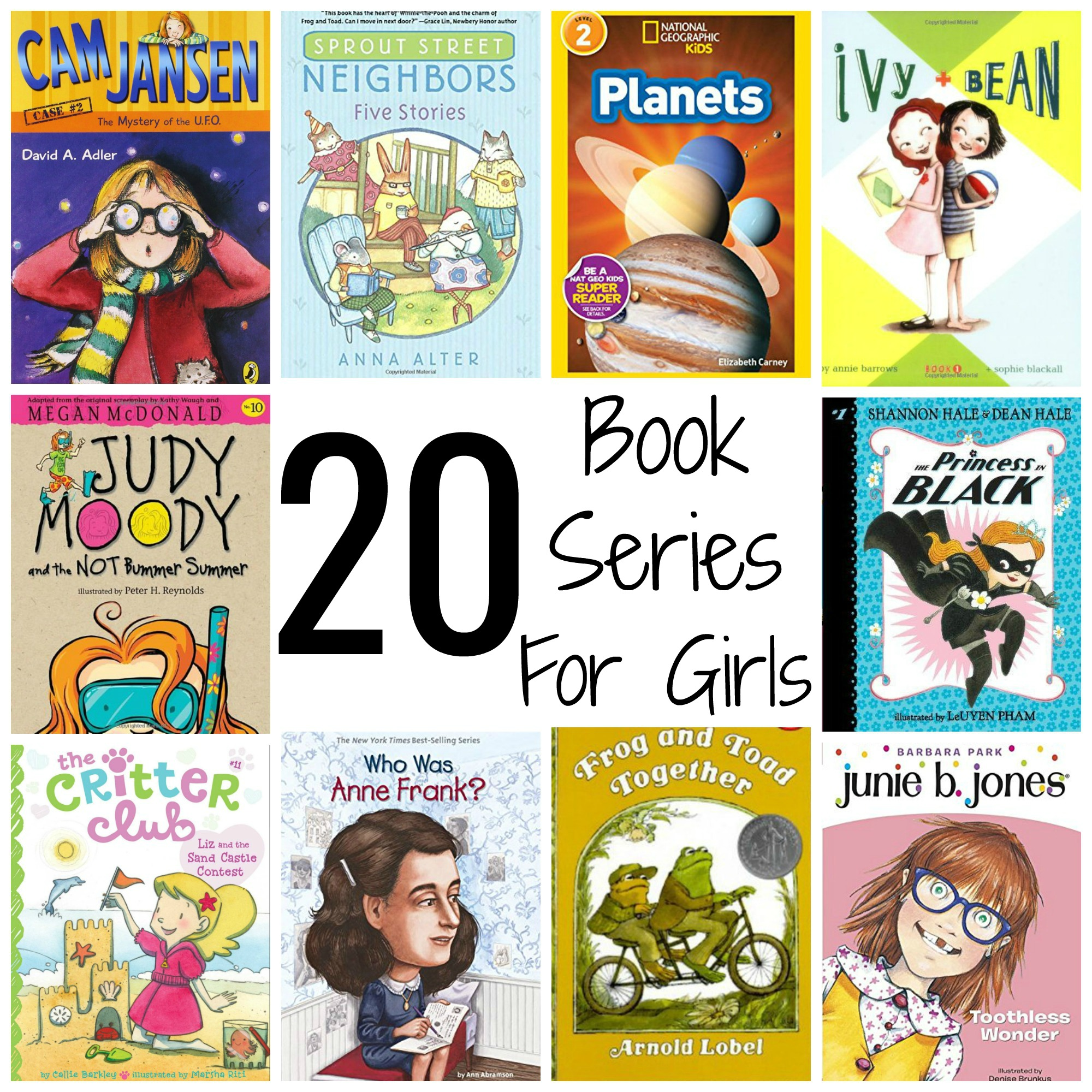 20 Book Series For Girls Grades 1 3