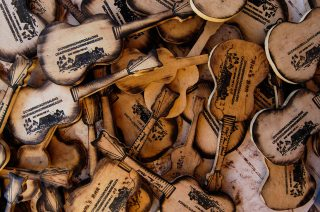 Chookman's guitar woodcuts