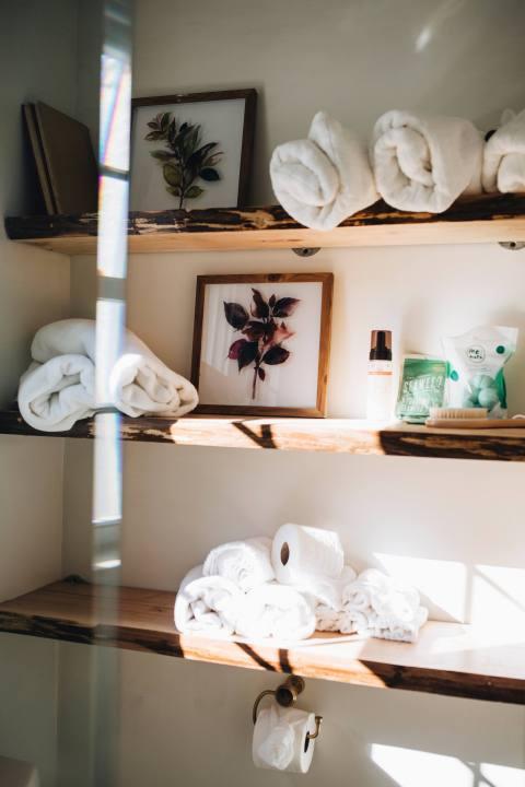 Bathroom Open Shelves